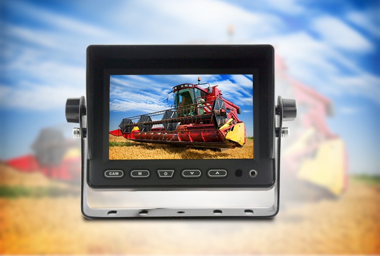 5 inch reverse LCD monitor with 3 cameras
