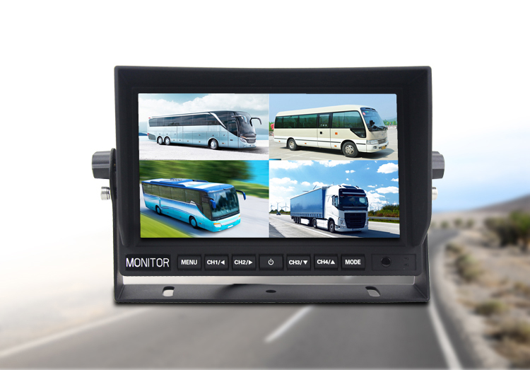 7 LCD monitor with connection up to 4 reverse cameras