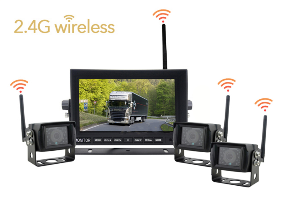 WiFi set 1x LCD monitor and 3x reversing camera