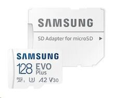 128GB micro SDXC card Samsung EVO Plus + SD adapter