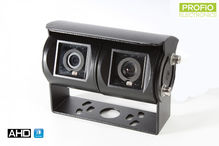 Dual AHD reverse camera with vertical angle of view of 180°