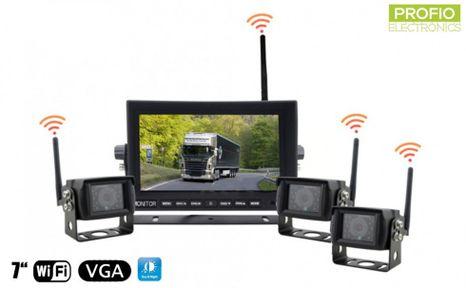 "3x WiFi reversing camera + WiFi 7"" monitor - parking set"