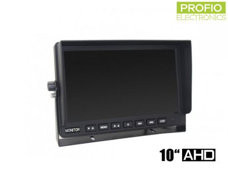 "AHD 10,1"" LCD monitor for reversing camera with display resolution 1024x600px and 3 AV inputs"