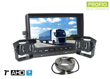 "AHD parking set LCD monitor 7"" + 2x camera with 18 IR LED"