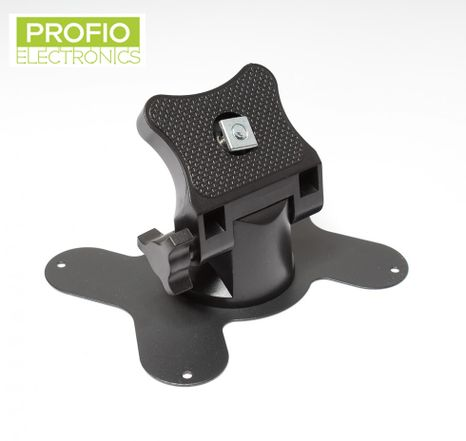 Monitor holder with adjustable joint and fixing screw