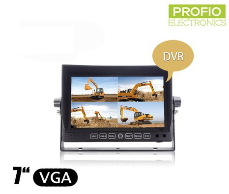 "DVR LCD reverse monitor 7"" with recording + 4 AV inputs"