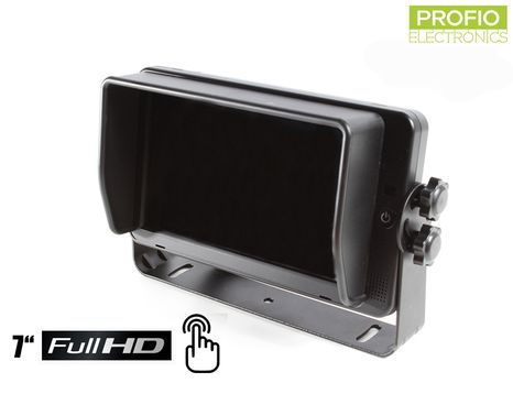 """FULL HD reverse 7"""" monitor with touch screen and with support of 4 reverse cameras"""