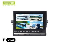 """LCD monitor 7"""" with 4 pin-cinch reduction and connection of up to 4 reverse cameras"""