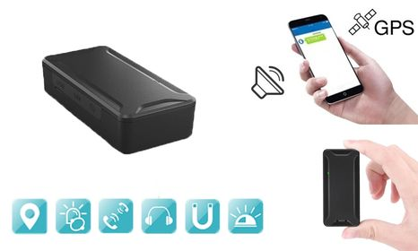 Mini GPS locator for online tracking with voice monitoring