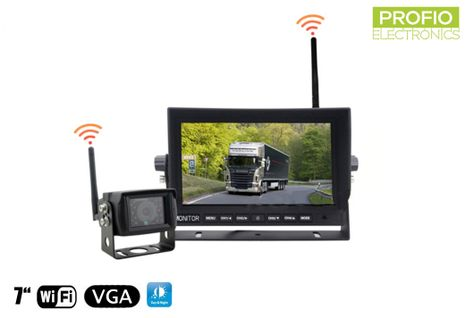 """Parking set into a car with a 7"""" LED monitor + 1x WiFi camera"""