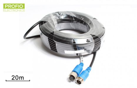 20 m extension cable for reversing camera waterproof 4 pin