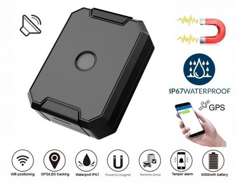 GPS waterproof locator + battery 6000mAh + voice monitoring
